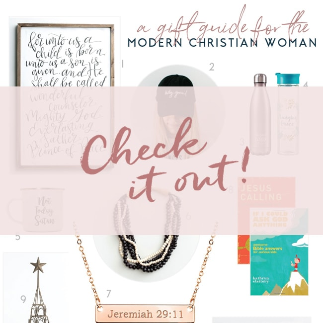 Christian Gift Guide | Modern Christian Woman