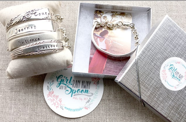 Faith Words Spoon Bracelets