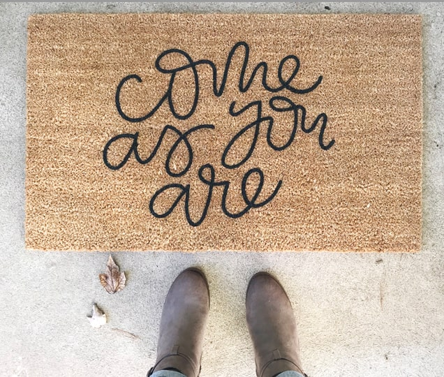 Christian Welcome Door Mat Come As You Are