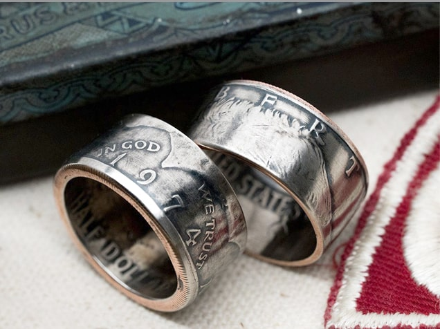 JFK Half Dollar Coin Ring In God We Trust Christian Gift by IGWM