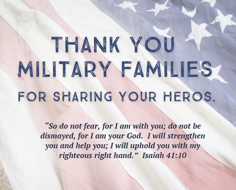 Thank you military families!