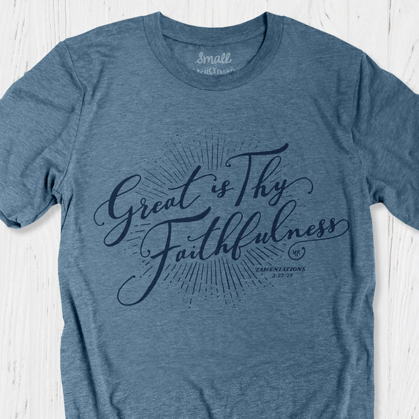 Great is Thy Faithfulness T-shirt | God's faithfulness Christian Tee