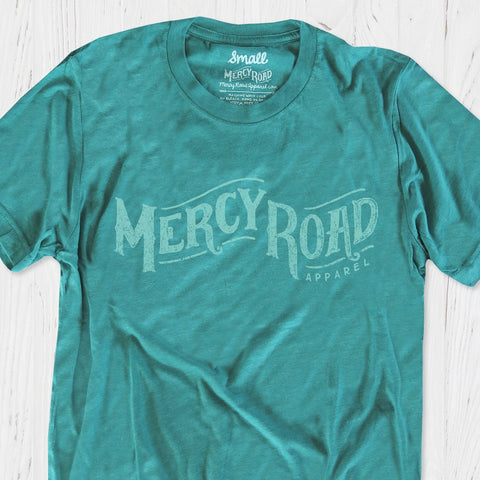 Mercy Road Apparel Christian T-Shirt | Teal Turquoise Triblend Mercy Tee
