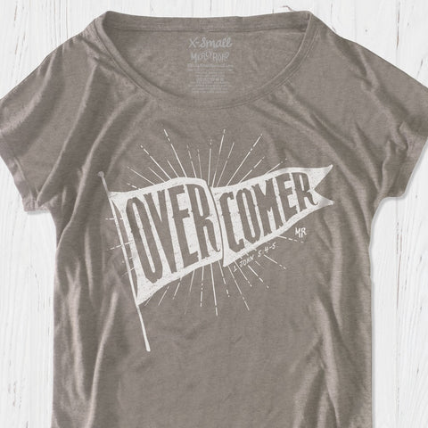 I'm an Overcomer Christian T-shirt for Women | Victorious Christian Triblend Flowy Dolman Tee