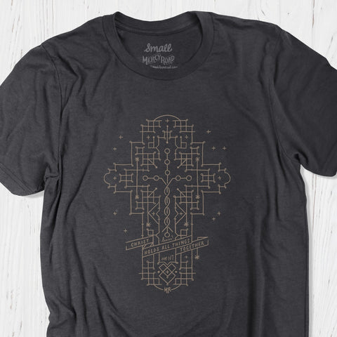 Laminin Christian T-shirt | Christ Holds All Things Together Tee