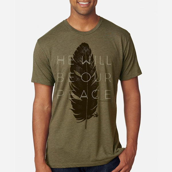 God's Peace Men's Christian Triblend Tee | Military Green