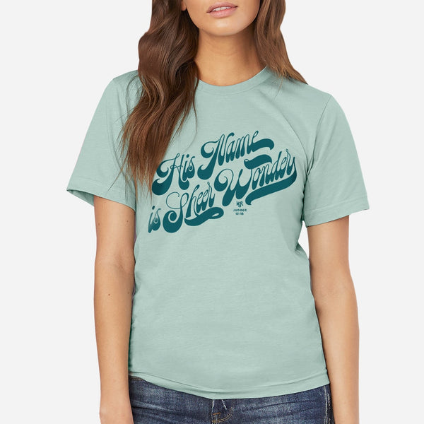 God's Name Is Sheer Wonder | Womens Christian Graphic T-shirt