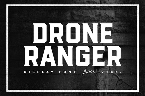Drone Ranger Display Font