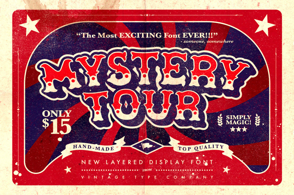 Mystery Tour Display Font