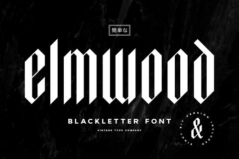 Elmwood Display Font