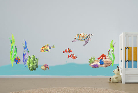 Undersea Wall Sticker Set