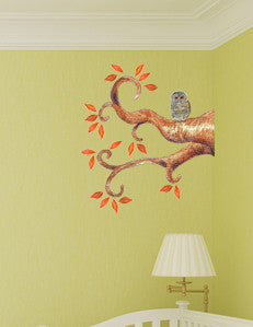 handpainted art sticker autumn tree