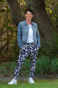 Tiggy Pants - Navy and White