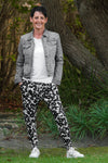 Tiggy Pants - Black & White Floral