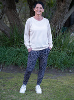 Tiggy Pants - Navy and Creme
