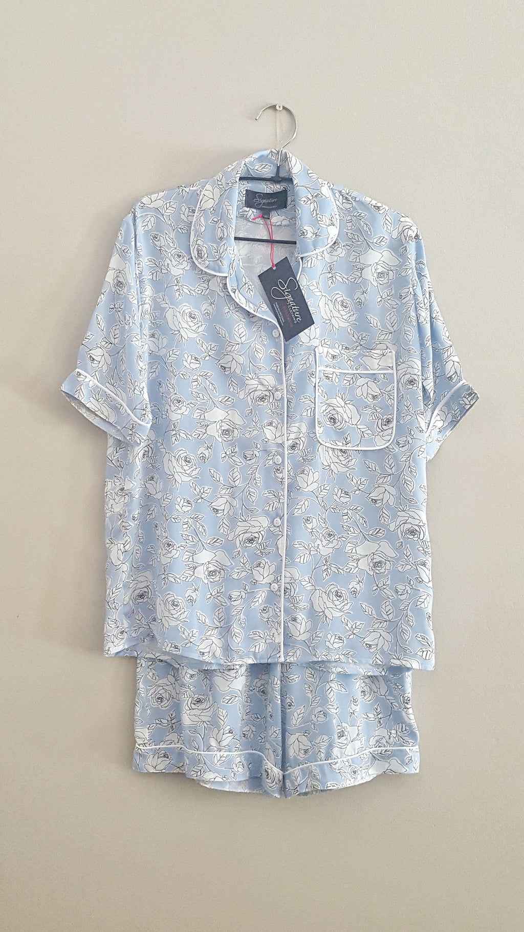 Short Pyjama Set - Blue/White