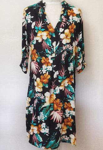 Amber Dress - Tropical Floral