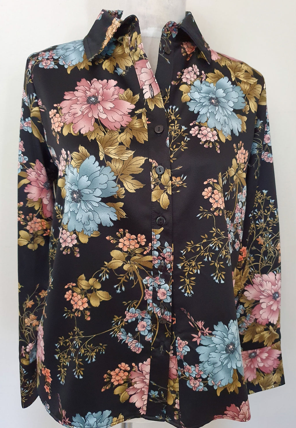 Ariana Shirt - Black Floral