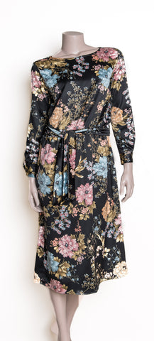 Harper Dress - Black Floral