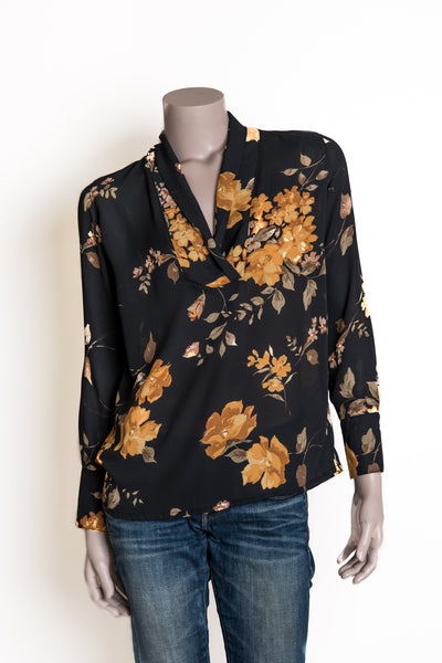 Reese Shirt - Black floral