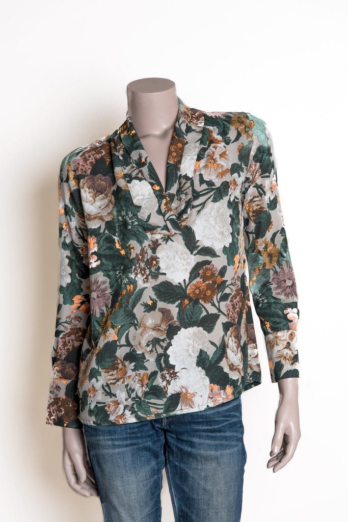 Reese Shirt - Green Floral