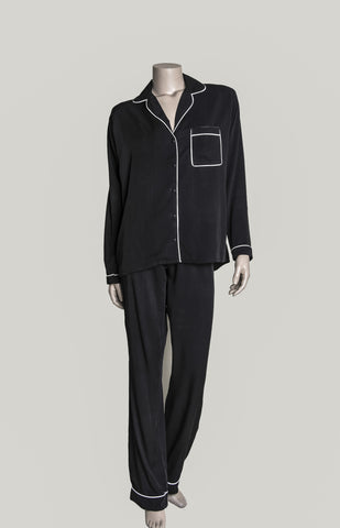 Long Pyjama Set - Black