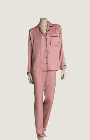 Long Pyjama Set - Dusty Pink