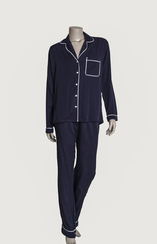 Long Pyjama Set - Navy