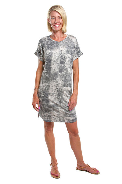Holly Dress Black Tie Dye