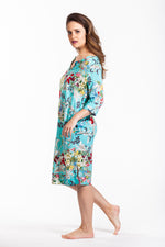 Martine Dress - Turquoise Floral