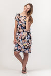 Julia Dress - Black Floral