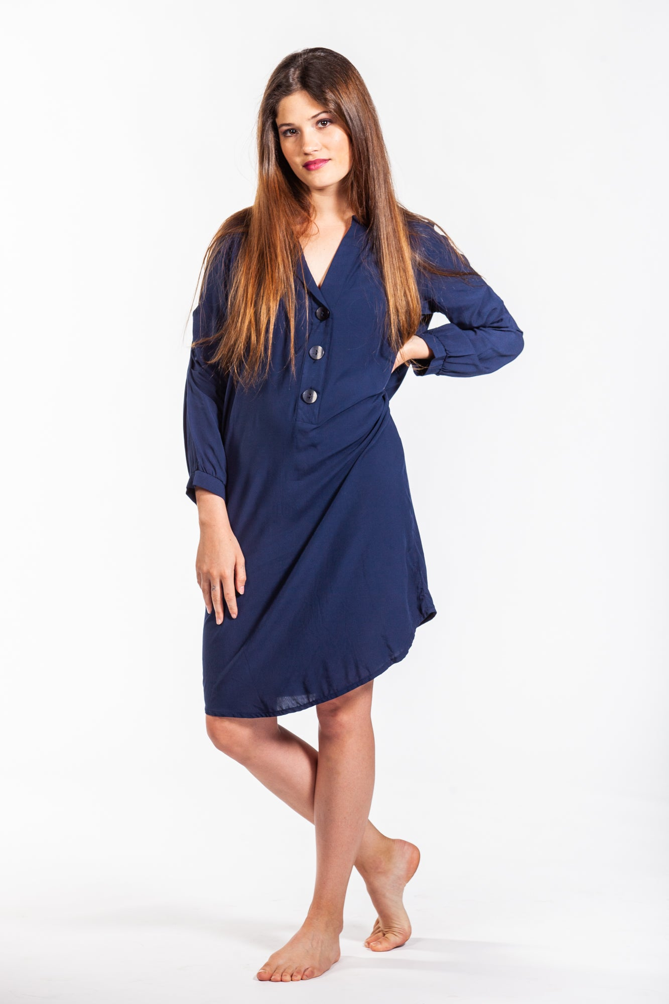 Tyla Dress - Navy