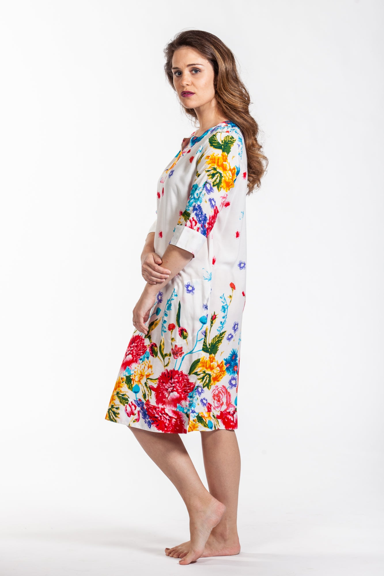 Martine Dress - White Floral