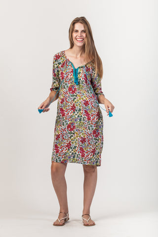 Abby Dress - Pink/Red floral