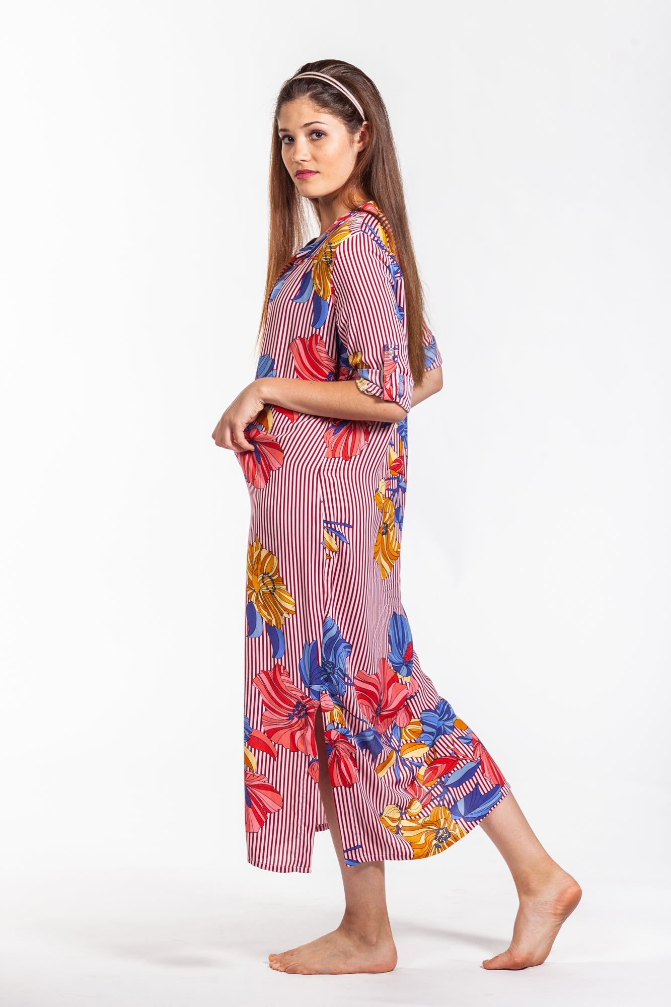 Maxi Dress - Red Floral