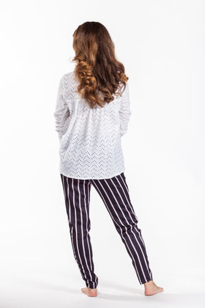 Kirsty pants - Navy stripe