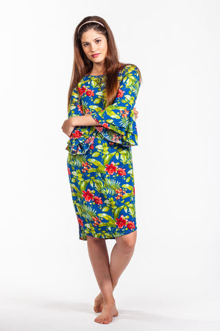 Bella Dress - Blue Floral