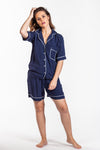 Short Pyjama Set - Navy