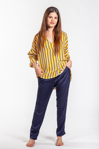 Megan Shirt - Yellow Stripe