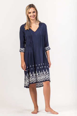 Alexa Dress - Navy
