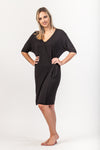 Leah Wrap Dress - Black