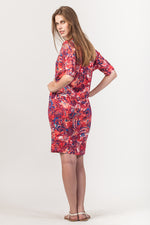 Leah Dress - Red Floral