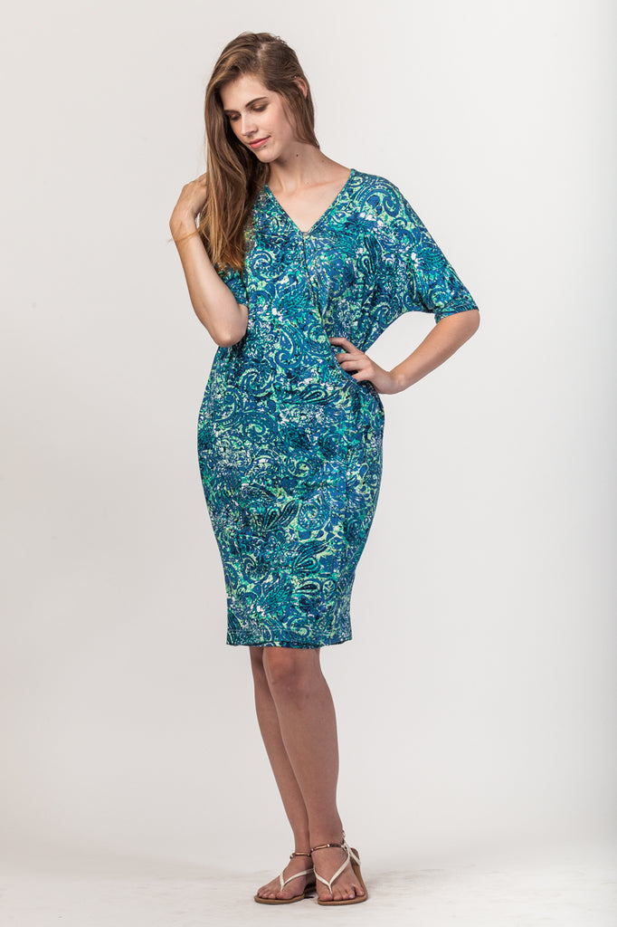 Leah Dress - Green Floral