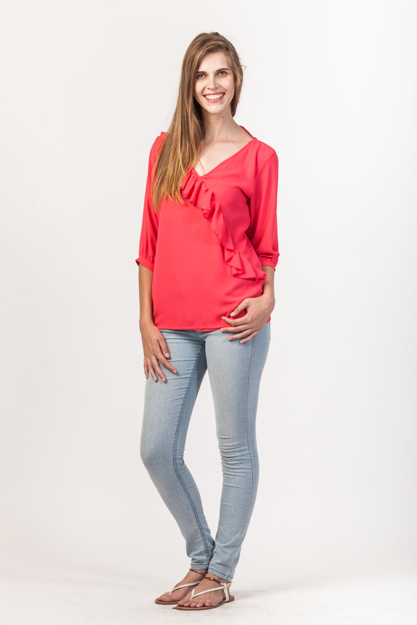 Kelly Shirt - Coral