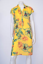 Abby Dress - Yellow Floral