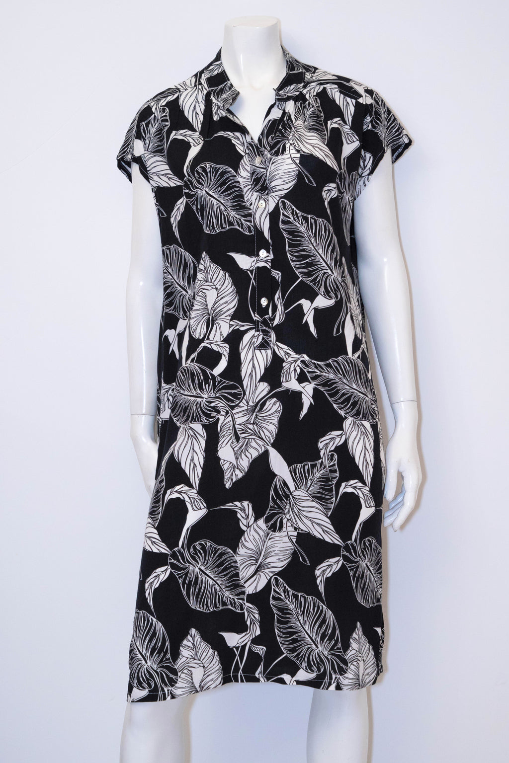 Abby Dress - Black/White