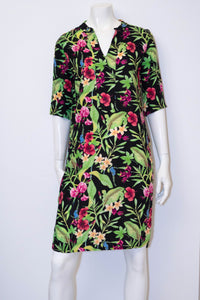 Sophia Dress - Black Tropical