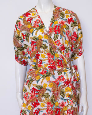 Emily Long Wrap Dress - Floral