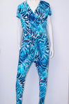 Aimee Jumpsuit - Blue Palms