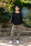 Aruba Chill pants - Khaki animal print